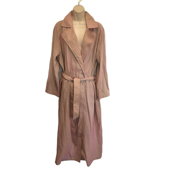 Mycra Pac Belted Pink Iridescent Trench Coat Rain
